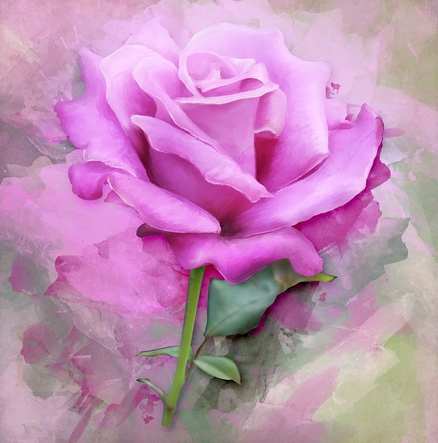 Free Photo Painting Flower Rose Spring Paint Floral Art Max Pixel