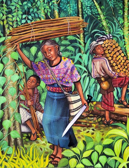 Guatemala, Painting, Art, Ethnic, Market, Crafts, Color