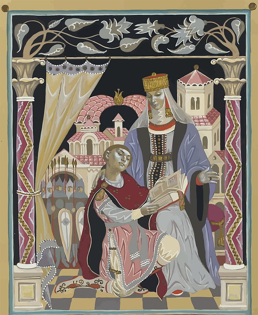 Russia, Queen, Knight, Painting, Medieval, People
