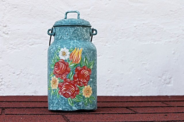Milk Can, Painting, Ornament, Decoration, Pot, Painted