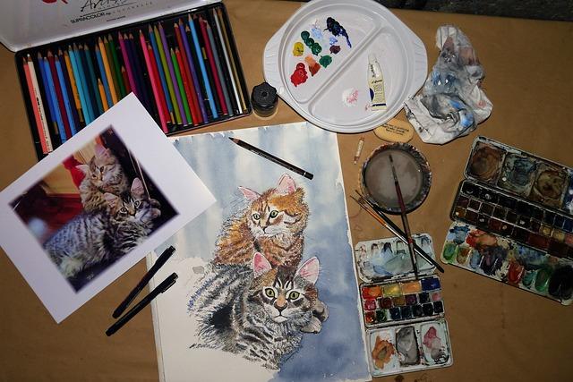 Still Life, Art, Painting, Malkasten, Bund Pins, Color