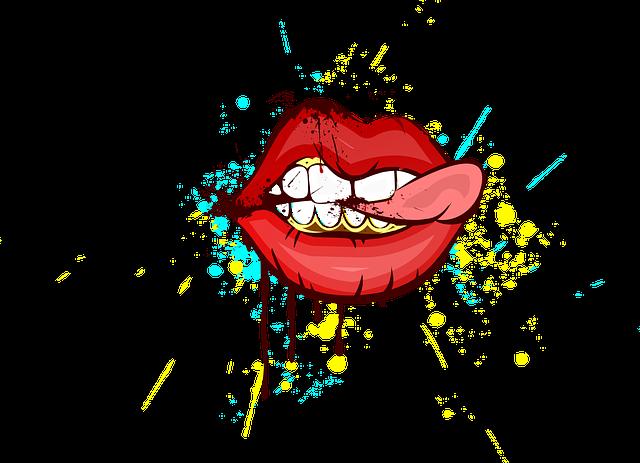 Lips, Art, Painting, Design, Teeth, Mural Painting