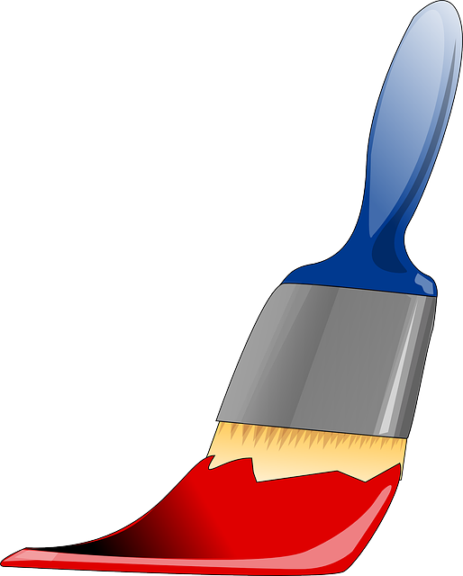 Paintbrush, Tool, Painting, Paints, Red, Color