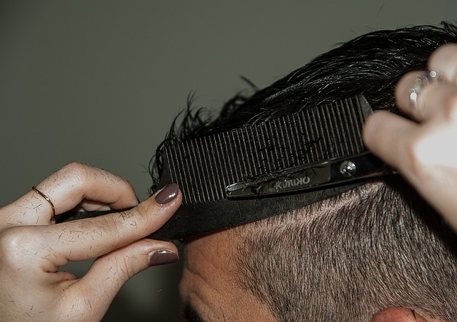 Hairdresser, Cup, Comb, Pair Of Scissors, Hairstyle