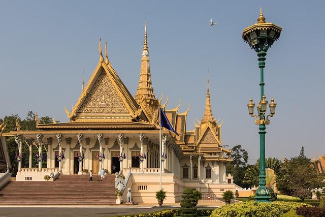 Phnom Penh, Royal Palace, Cambodia, Asia, Palace