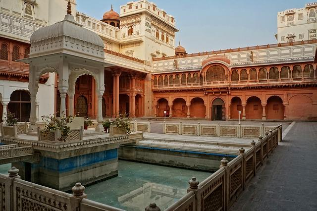 Architecture, Travel, Old, Building, Palace, Courtyard