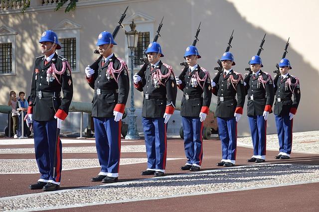 Guard, Changing Of The Guard, Monaco, Palace Of Monaco