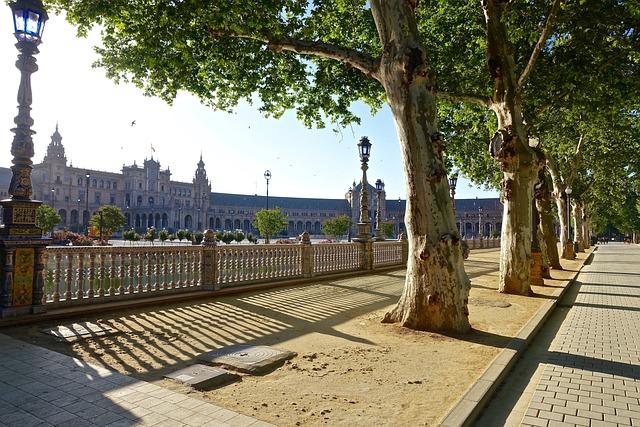 Plaza De Espania, Seville, Palace, Historic, Famous