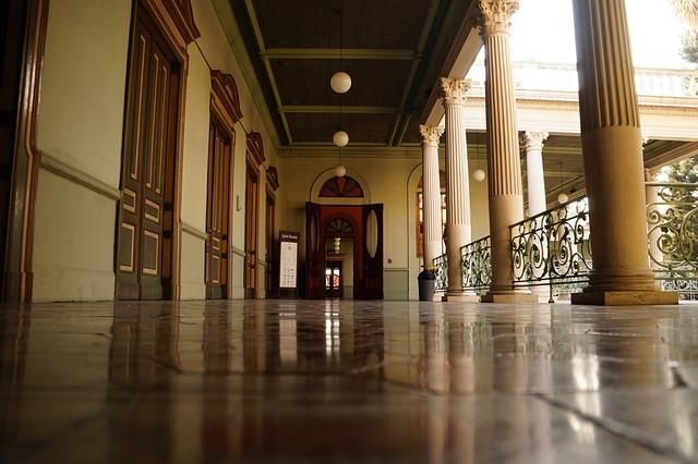 El Salvador, Palacio Nacional, Culture, Art, Corridor