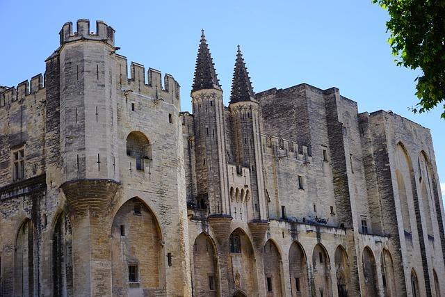 Palais Des Papes, Building, Imposing, Impressive