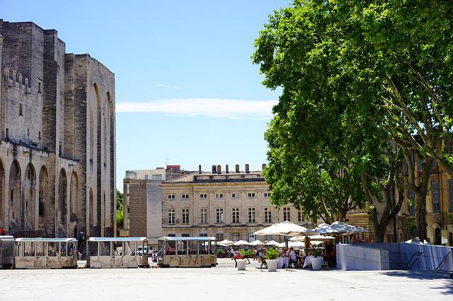 Palais Des Papes, Avignon, Forecourt, Space, Building