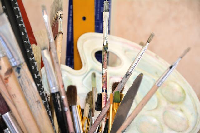 Paint Brushes, Palette, Creativity