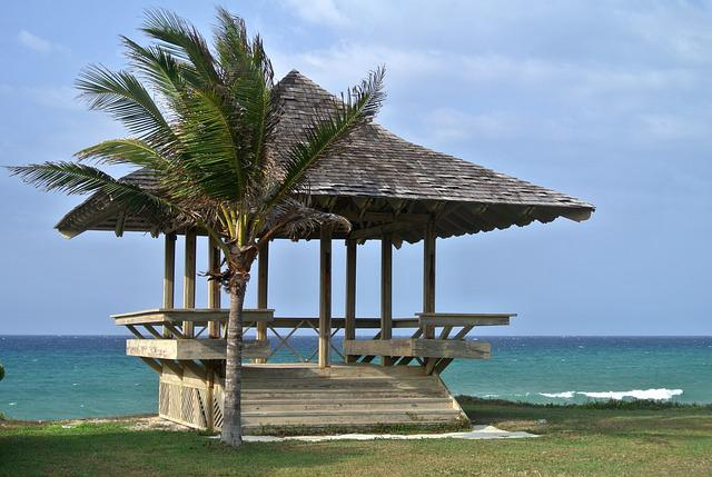 Jamaica, Beach Hut, Caribbean, Palm, Sea