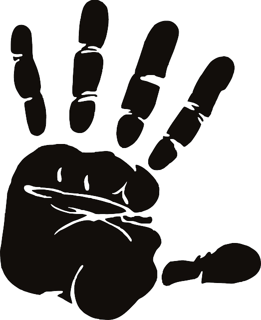 Hand, Palm, Fingers, Spread, Silhouette, Stop, Halt