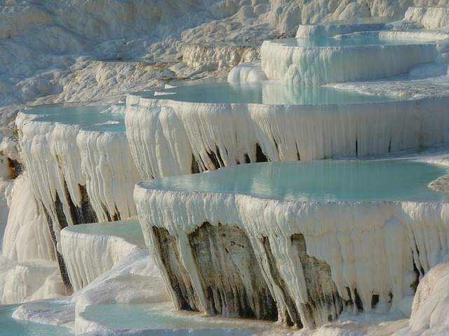 Pamukkale, Lime Sinter Terrace, Calcium