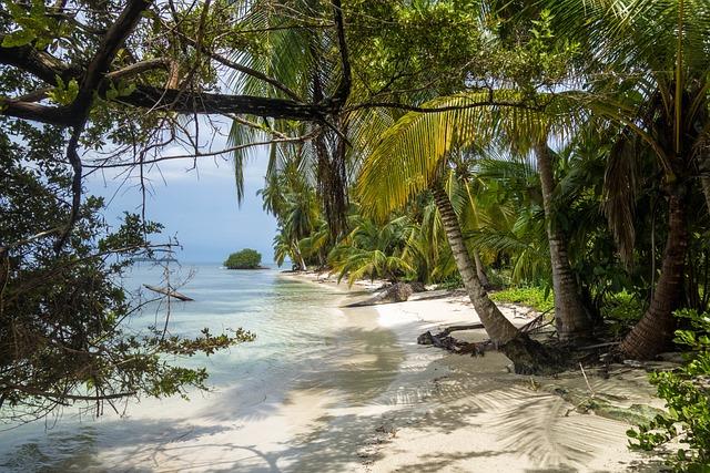 Beach, Island, Sea, Paradise, Panama, Caribbean, Water