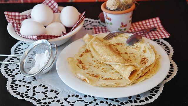 Pancakes, Pancake, Süsspeise, Egg, Milk, Flour, Sugar
