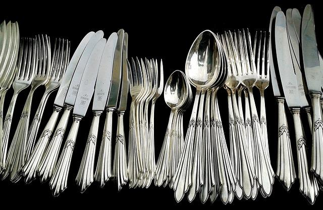 Cutlery, Panel Cutlery, Knife, Forks, Spoon, Silverware