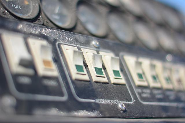 Switches, Gauges, Control, Equipment, Technology, Panel