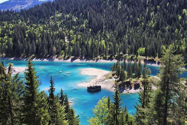 Alpine Lake, Blue, Water, Panorama, Mountain