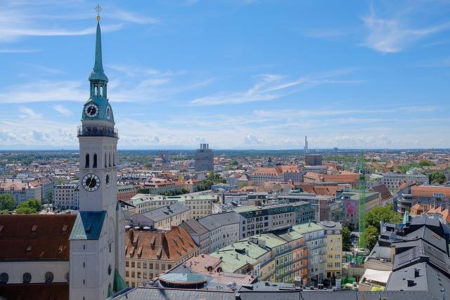 City, Architecture, Panorama, Urban Landscape, Munich