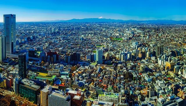 Tokyo, Japan, Panorama, City, Urban, Buildings, Dense