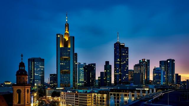 Frankfurt, Germany, Panorama, City, Urban, Skyline