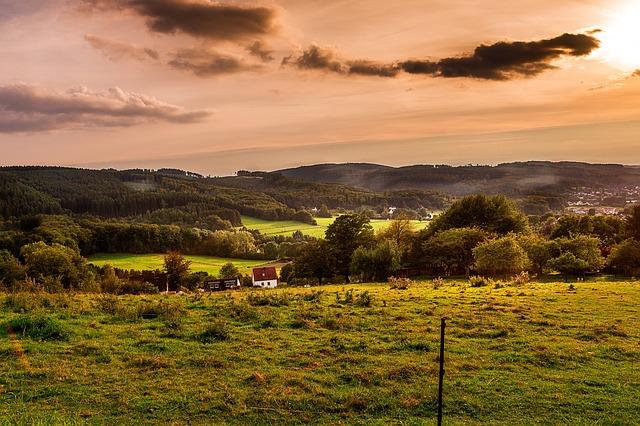 Landscape, Panorama, Nature, Sky, Grass, Sunset, Cloud