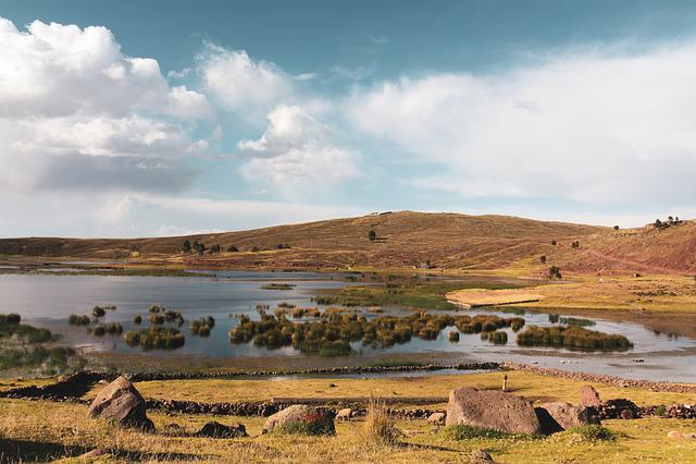 Sillustani, Peru, Lake, Panorama
