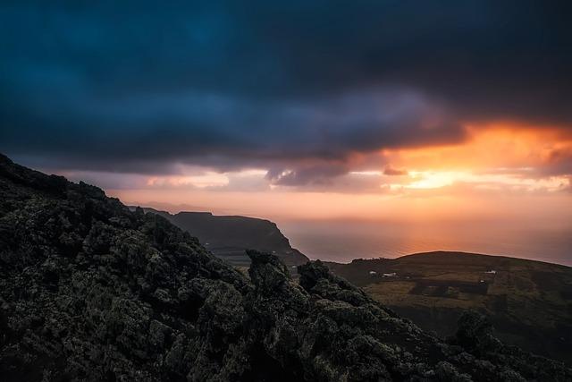 Spain, Sunset, Dusk, Panorama, Sky, Clouds, Sea, Ocean