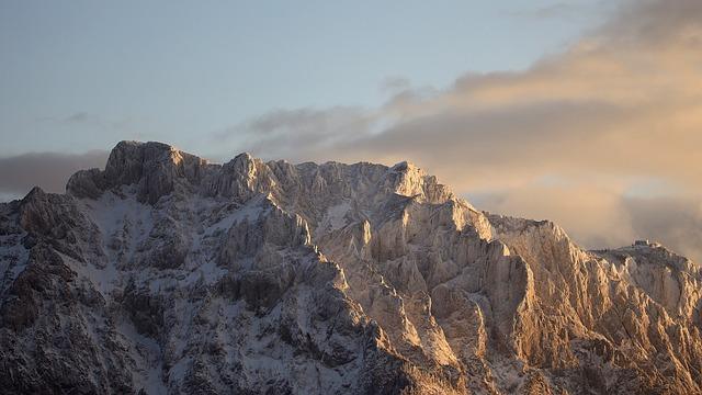 Sunset, Alpine, Landscape, Austria, Wintry, Panorama