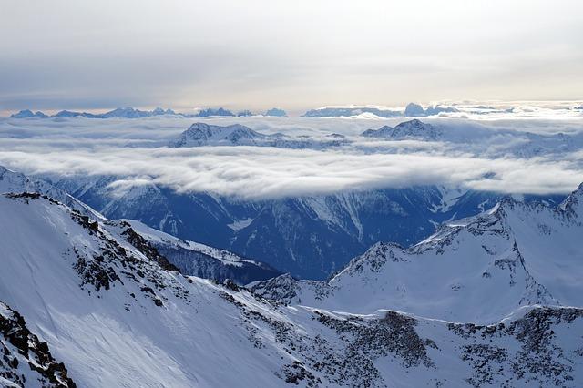 Snow, Mountain, Winter, Panoramic, Ice, Mountain Peak