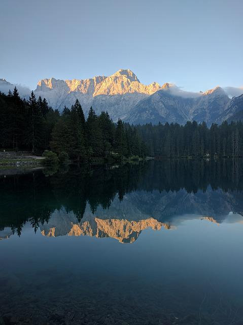 Water, Reflection, Lake, Panoramic, Mountain