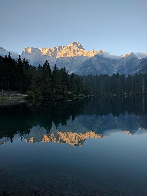 Water, Reflection, Lake, Panoramic, Mountain