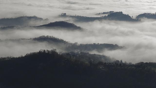 Panoramic, Mountain, Landscape, Nature, Fog