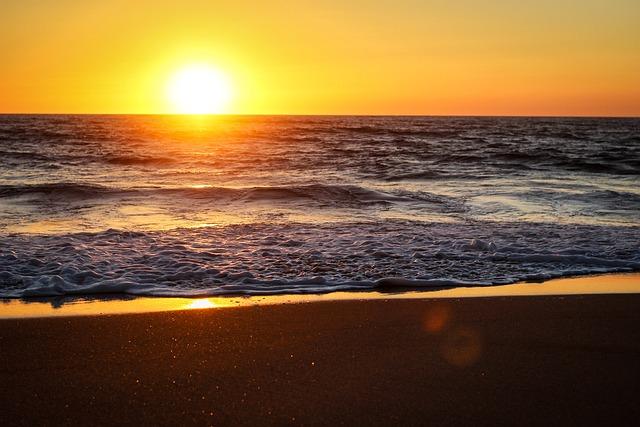 Sun, Sunset, Sky, Panoramic, Sea, Nature