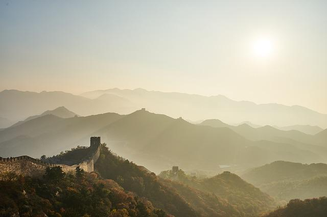 Mountain, Sunset, Landscape, Panoramic, China