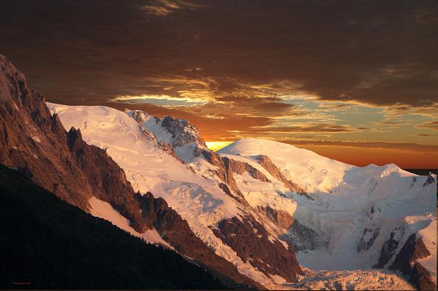 Panoramic, Sunset Summit Mont-blanc