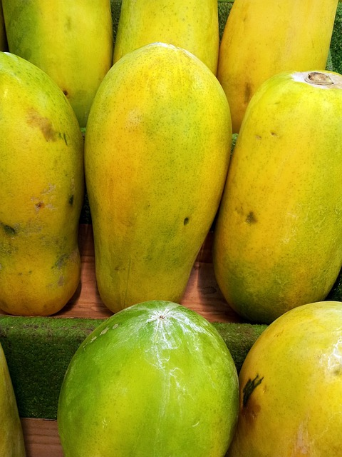 Papayas, Pile, Green Papaya, Singapore, Fruit, Juicy