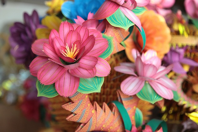 Taiwan, Paper 藝, Tradition, Paper Flowers, East Side