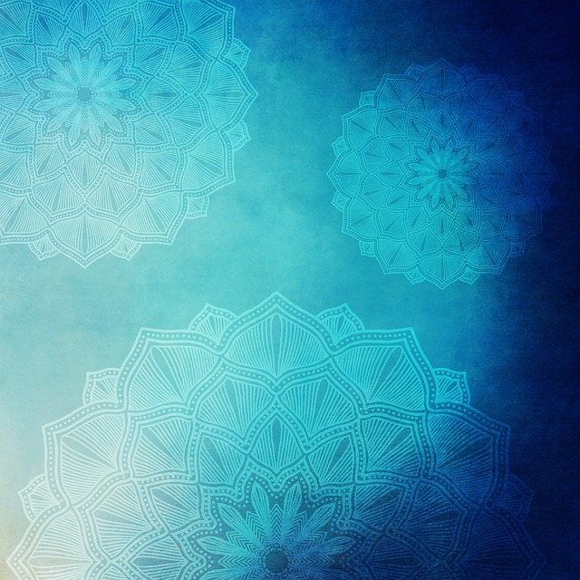 Background, Grunge, Vintage, Paper, Old, Blue, Mandala