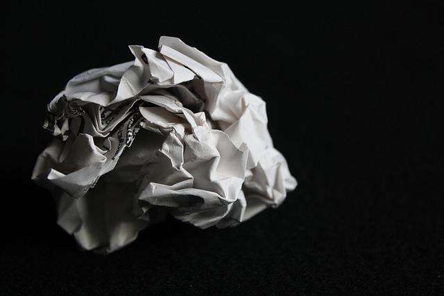 Paper, Screwed Up, Paper Ball, Crinkle, Screwed, Ball