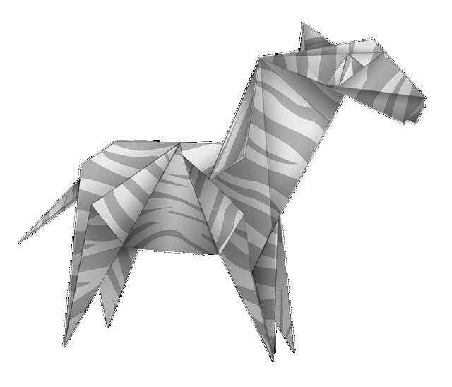 Origami, Zebra, Black And White, Paper, Art, Animal