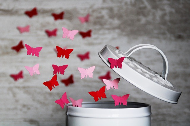 Butterfly, Paper, Flying, Box, Lid, Floating, Punching