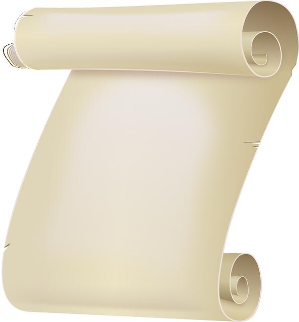 Certificate, Paper, Parchment, Roll, Scroll, Sheet