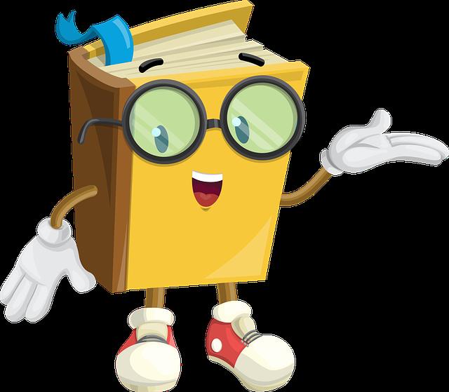 Book, Character, Glasses, Show, Showcase, Cute, Paper