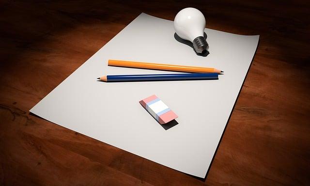 Idea, Empty, Paper, Pen, Light Bulb, Creativity