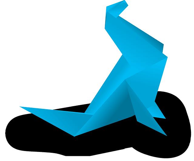 Origami, Paper, Folding, Artistic, Japanese, Blue