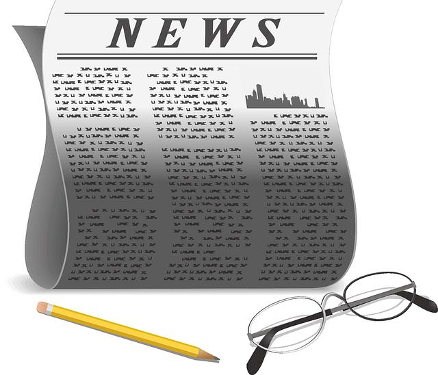 Newspaper, Paper, Pencil, Glasses, Reader