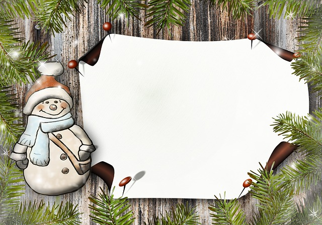 Snow Man, Paper, Greeting Card, Postcard